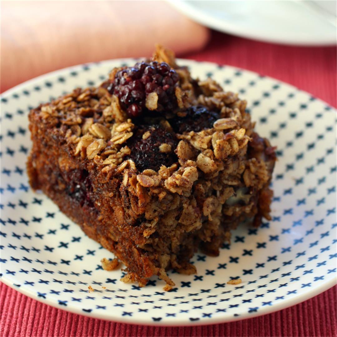 Blackberry Oatmeal Breakfast Cake