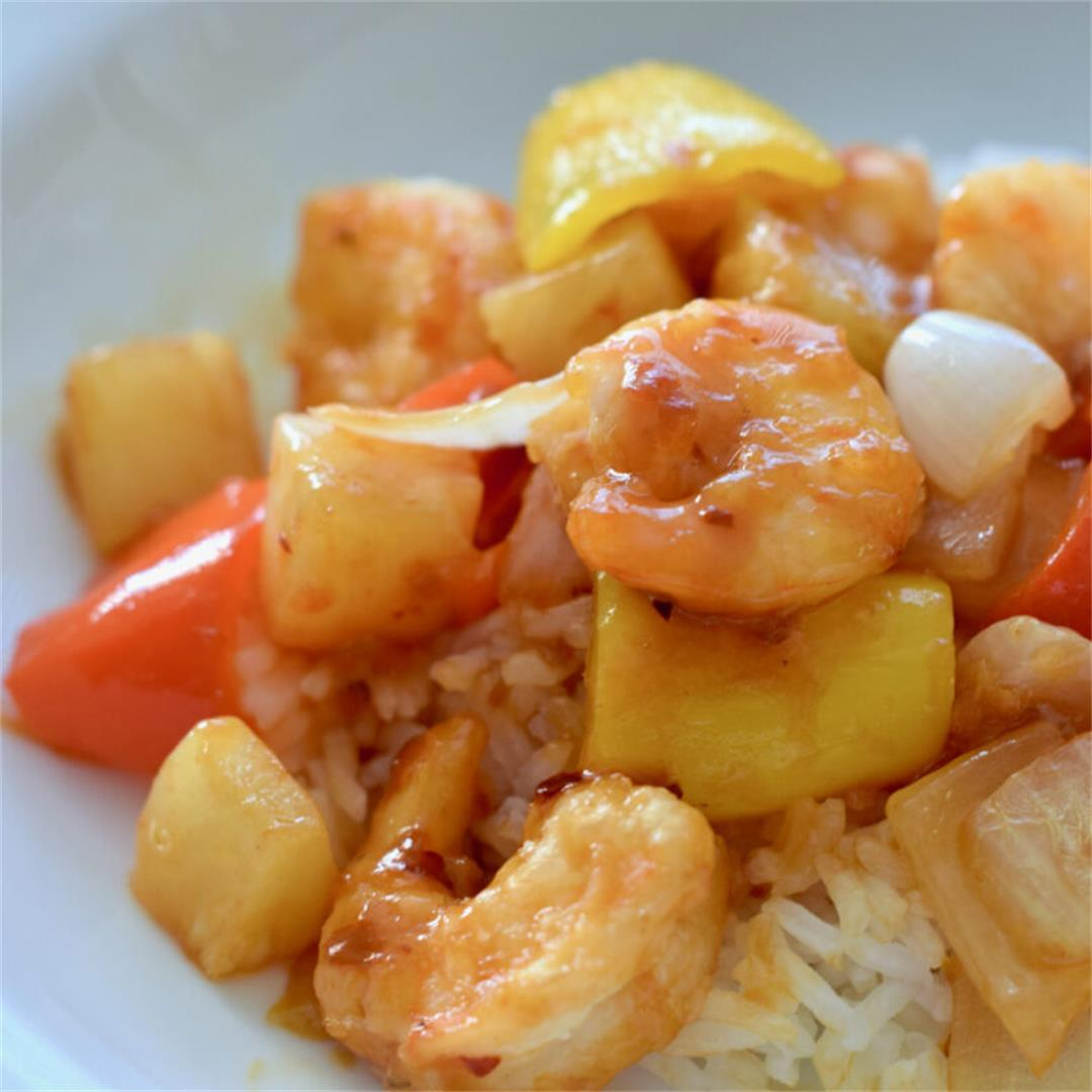 Easy Homemade Spicy Sweet and Sour Shrimp