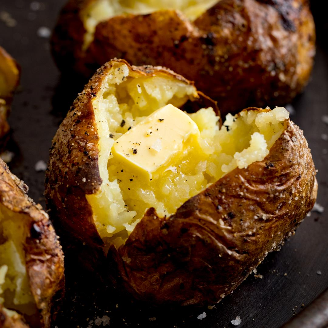 The Best Baked Potato Method