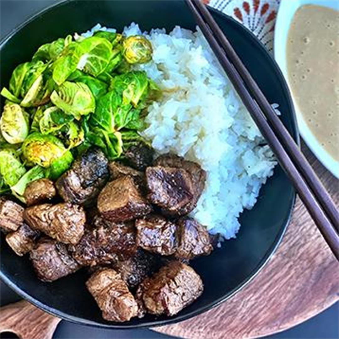 Miso-Ginger Miyazakigyu Wagyu Steak Bites