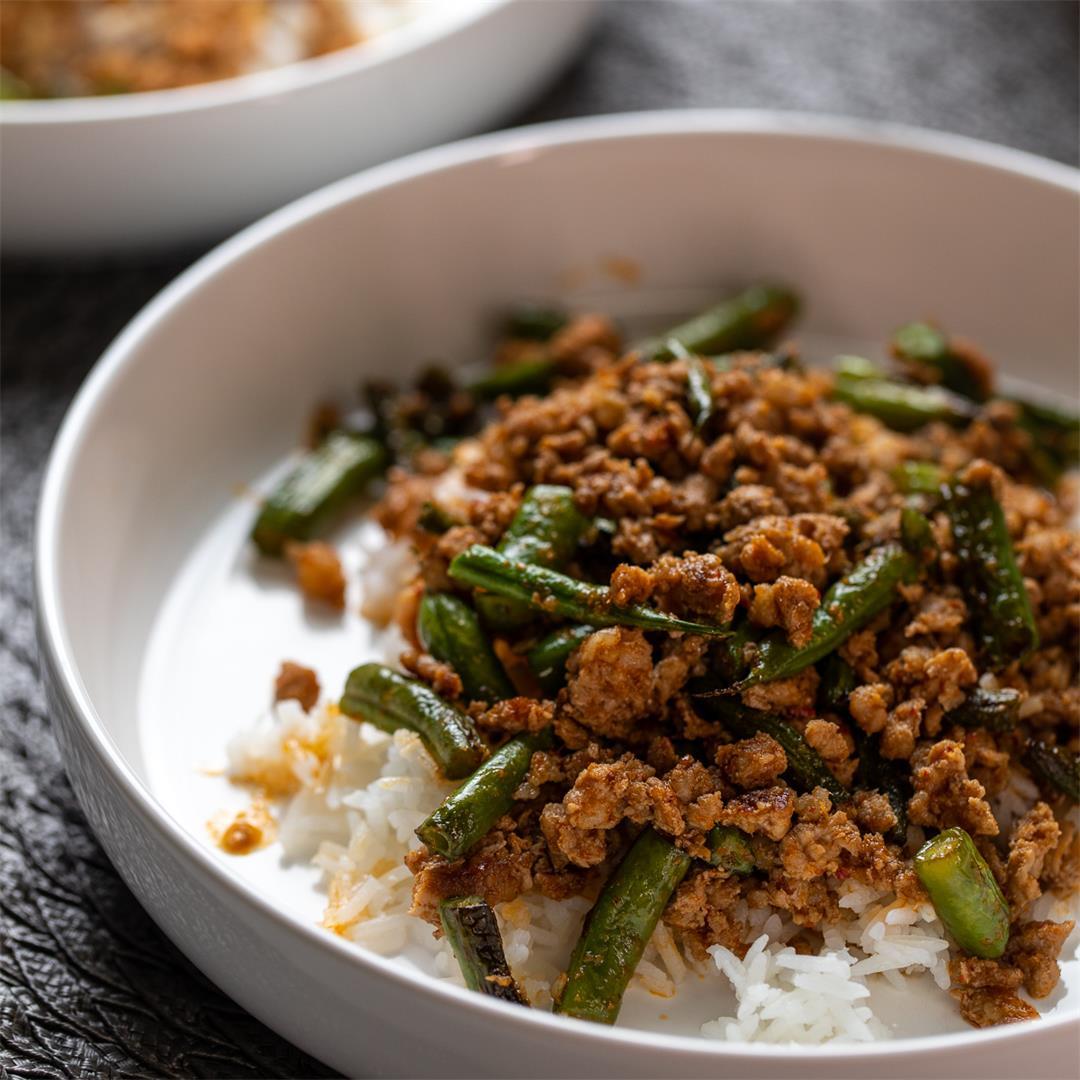 Thai Ground Pork and Green Beans