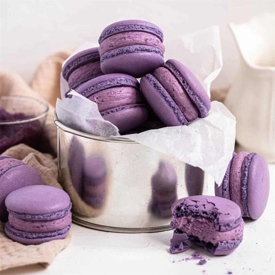 Ube Macarons