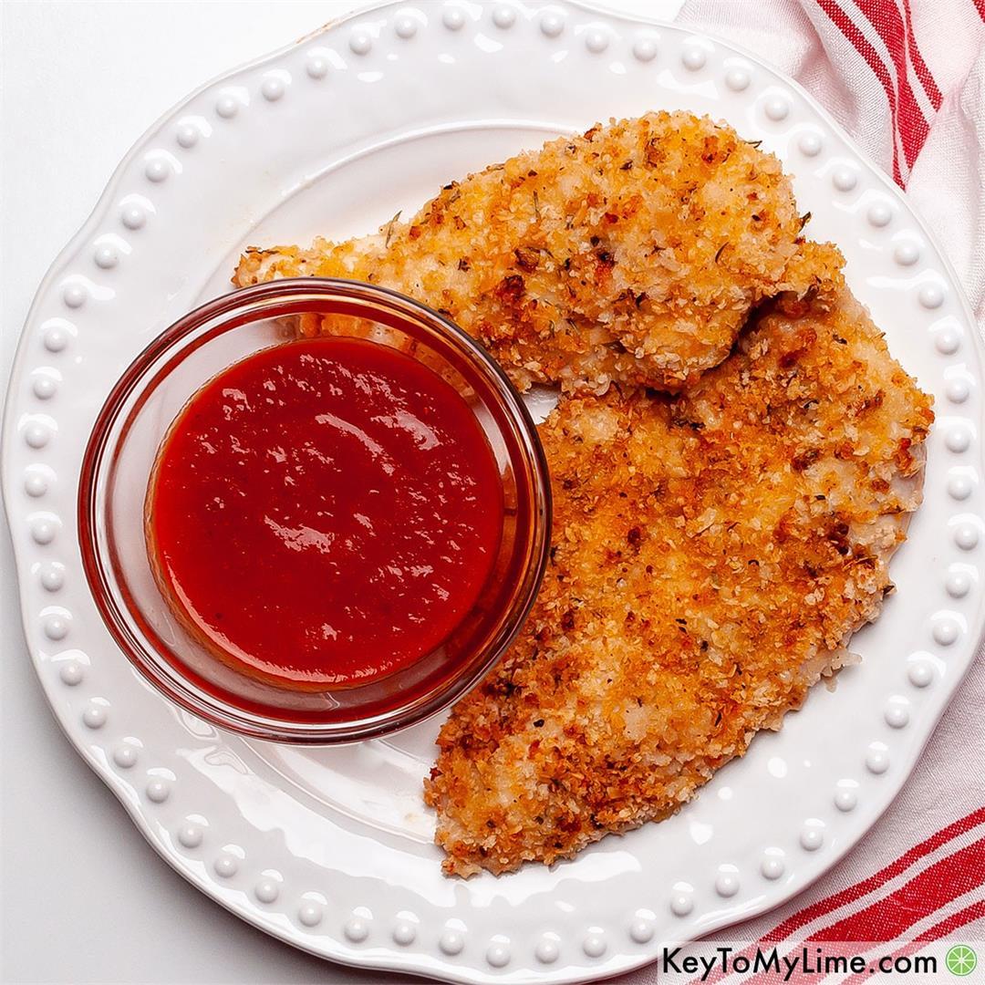 EASY & CRISPY Baked Panko Chicken