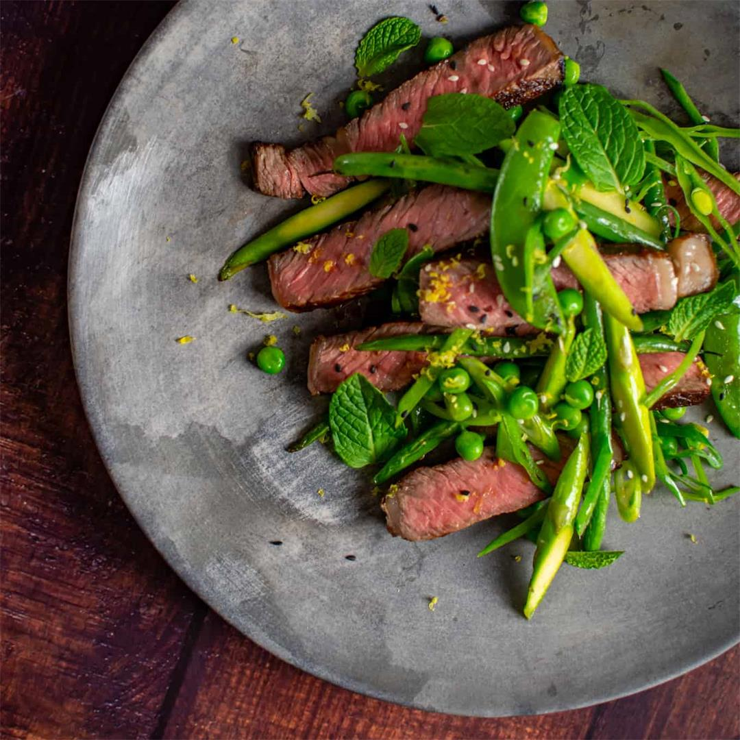 Scotch Fillet and Mixed Greens