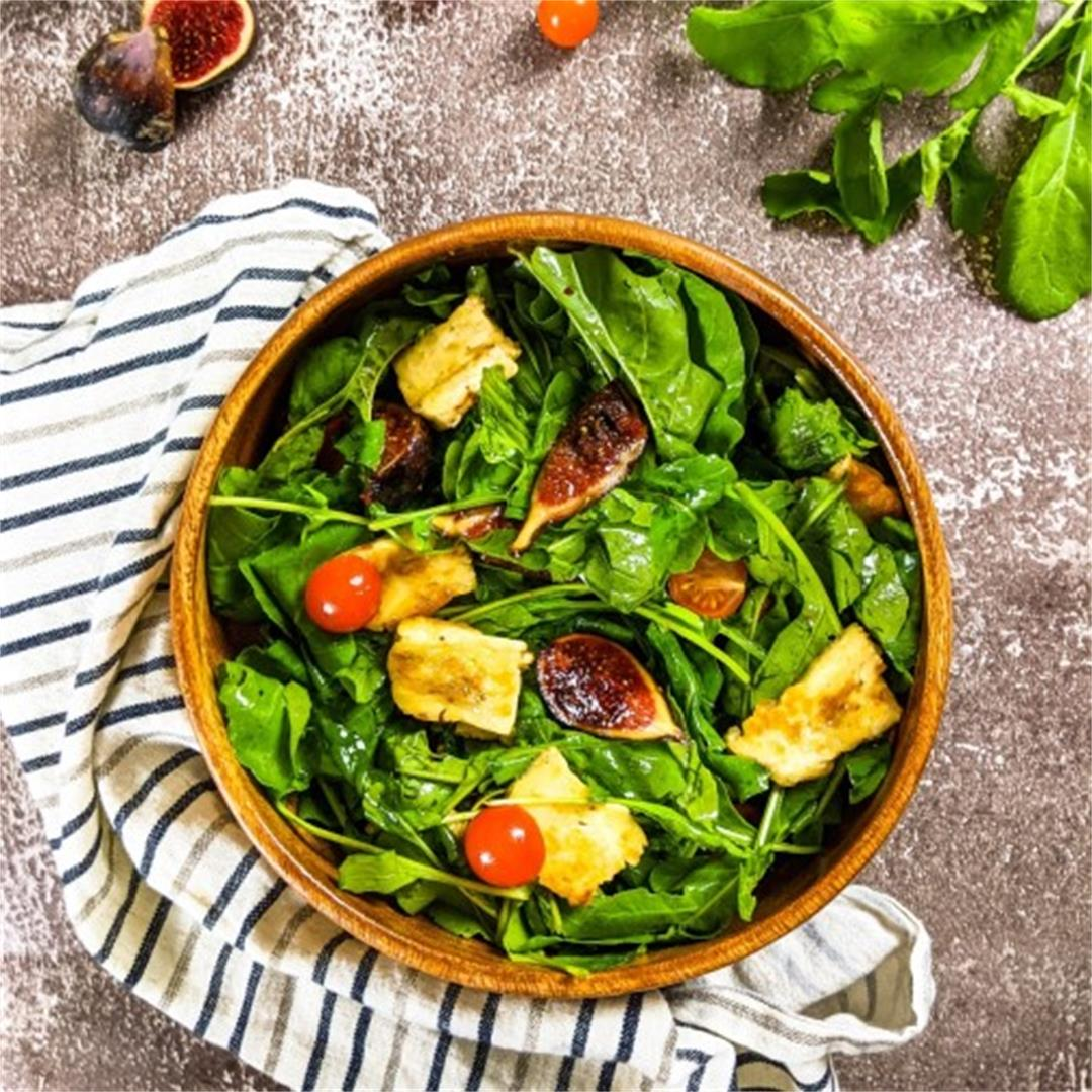 Fig and Grilled Halloumi Salad Recipe