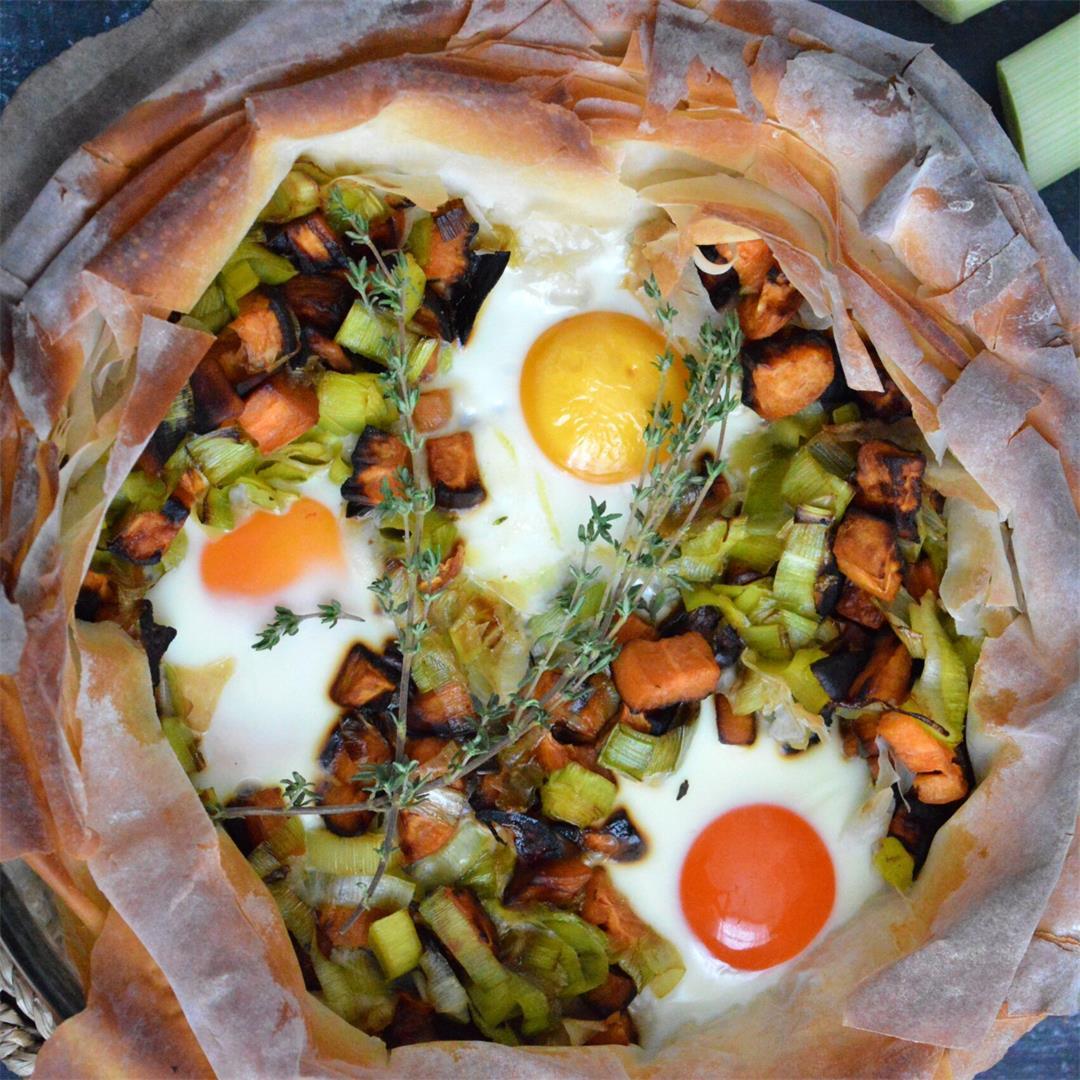 Leek & Sweet Potato Filo Pie — Tasty Food for Busy Mums