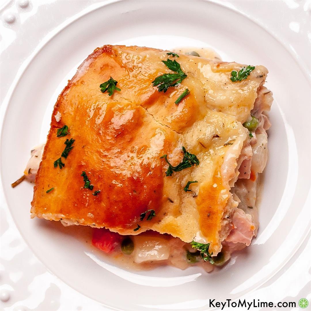 BEST Easy Bisquick Chicken Pot Pie