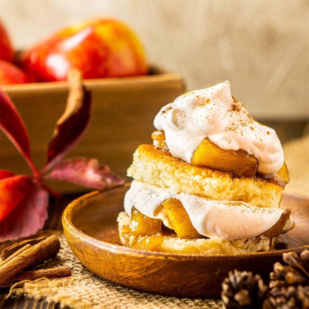 Apple Shortcakes With Maple Whipped Cream