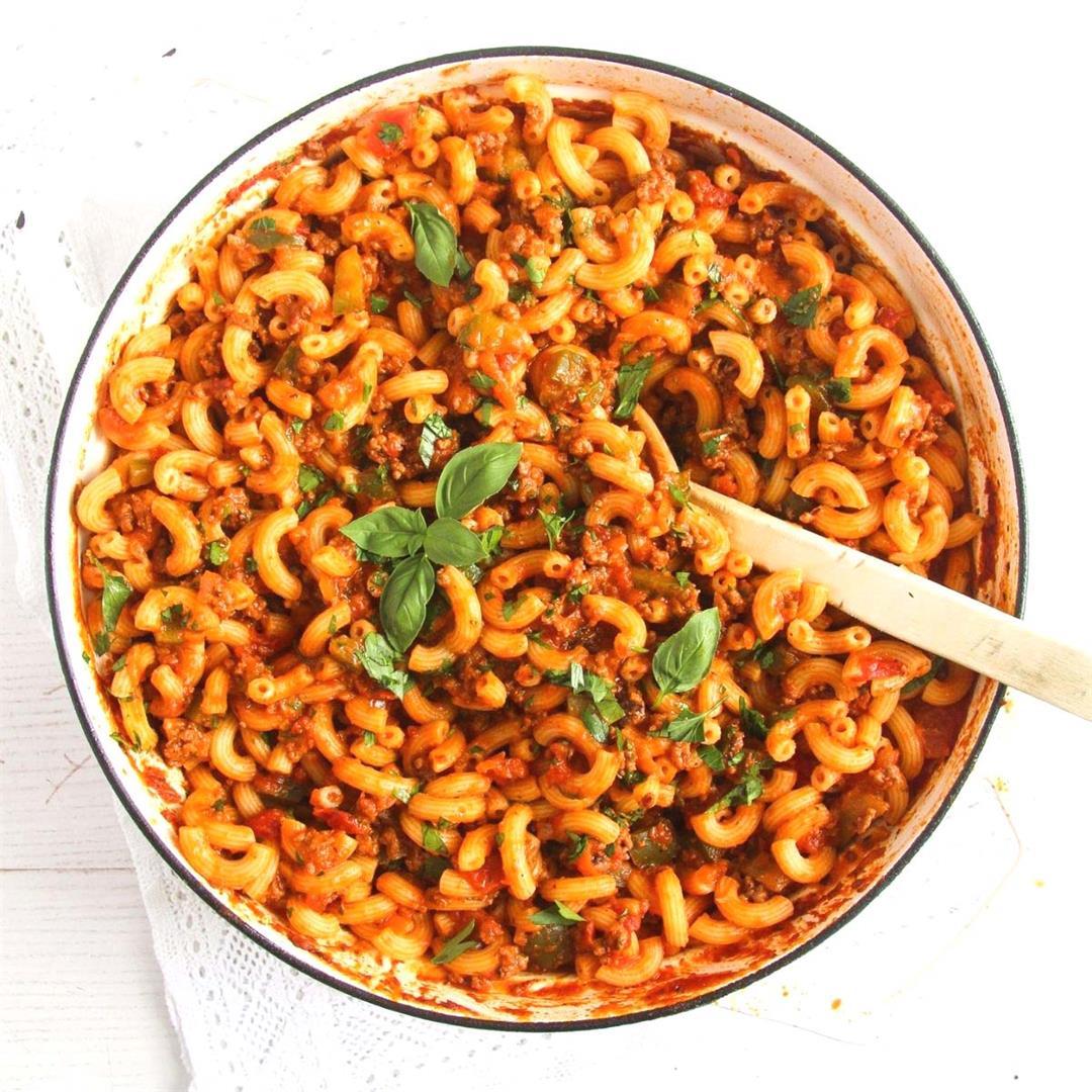 Easy Recipe for American Chop Suey