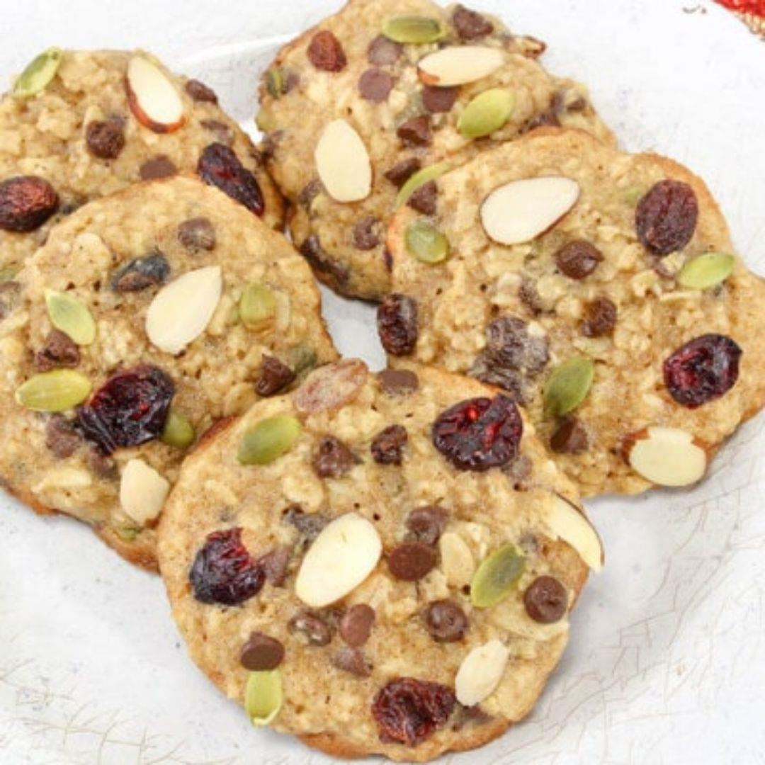 Trail Mix Cookies For A Healthy Snack