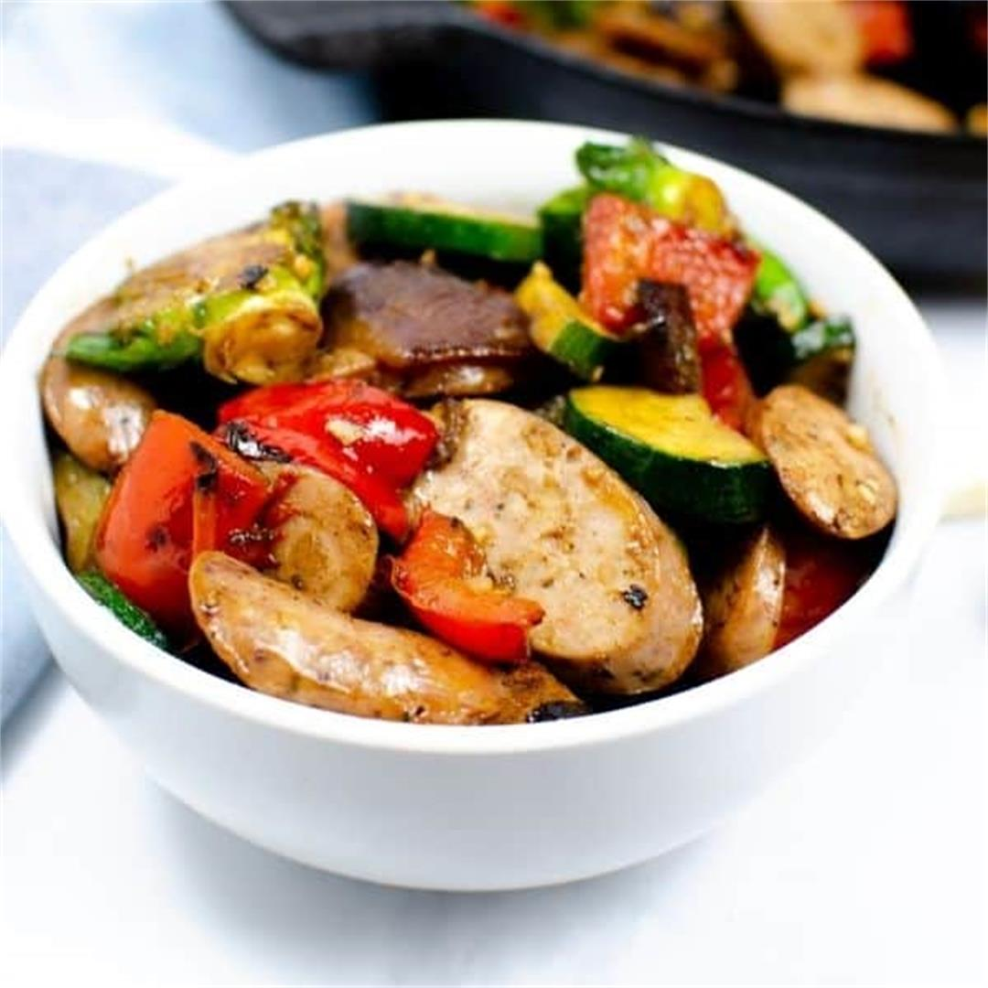 Chicken Apple Sausage and Vegetables