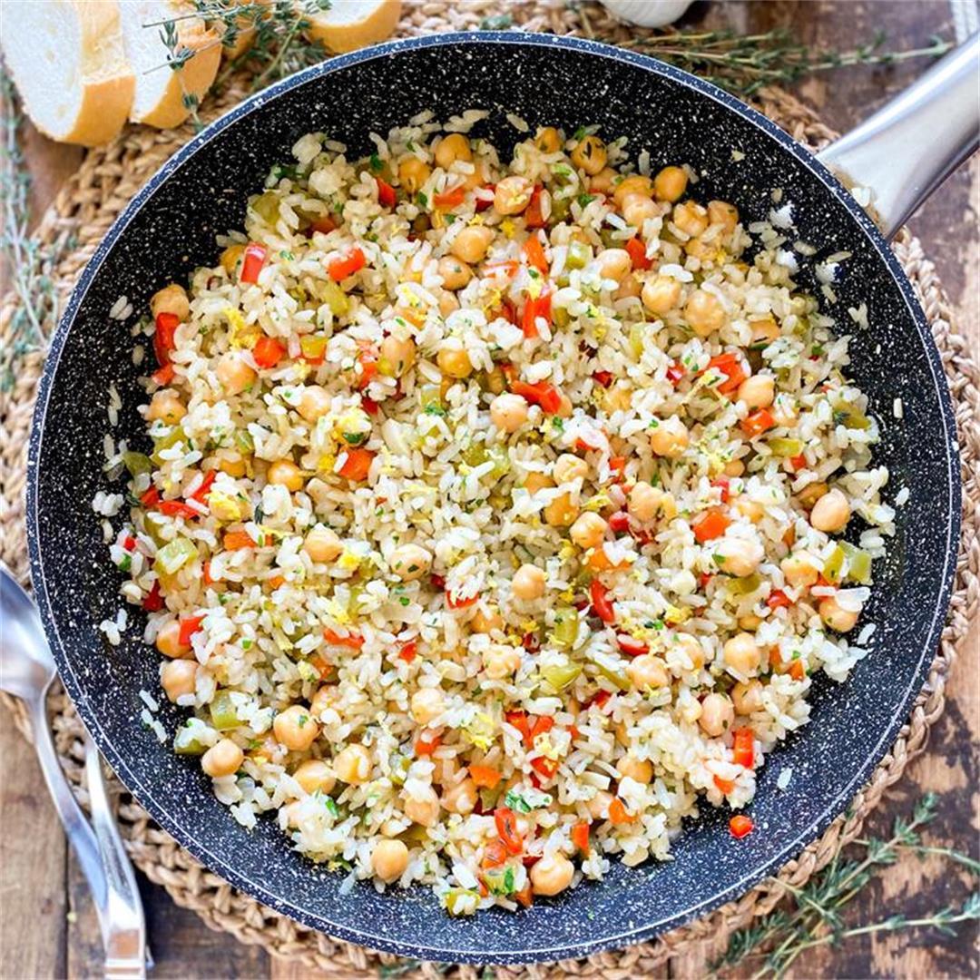 Mediterranean Lemon-Garlic Rice | Healthy & Delicious