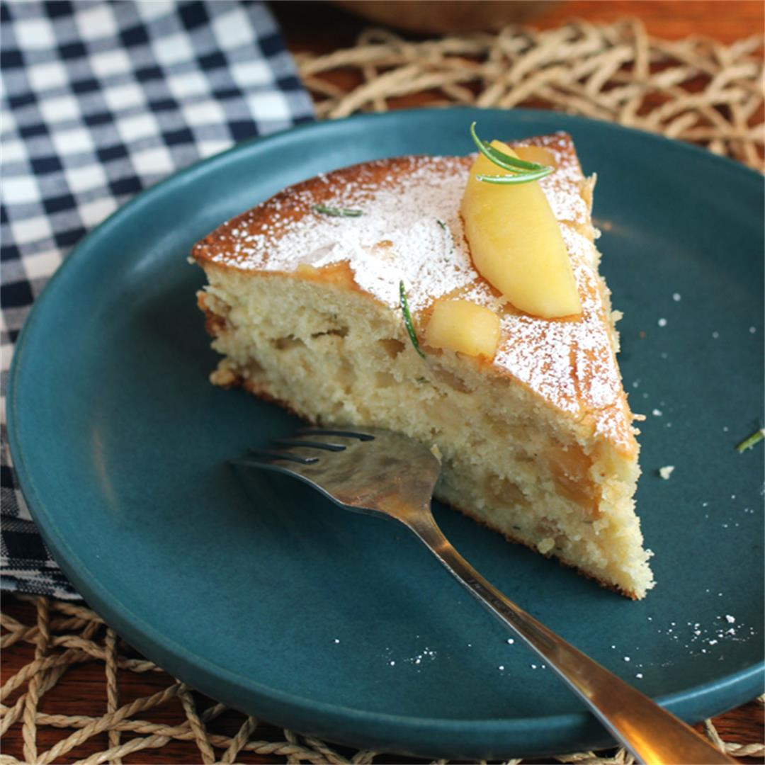 Apple and rosemary cake