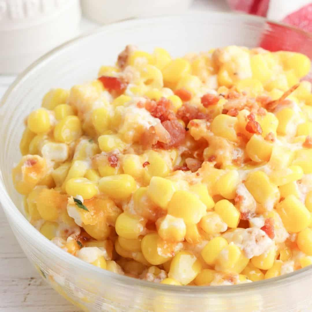 Cheesy Bacon and Corn Casserole
