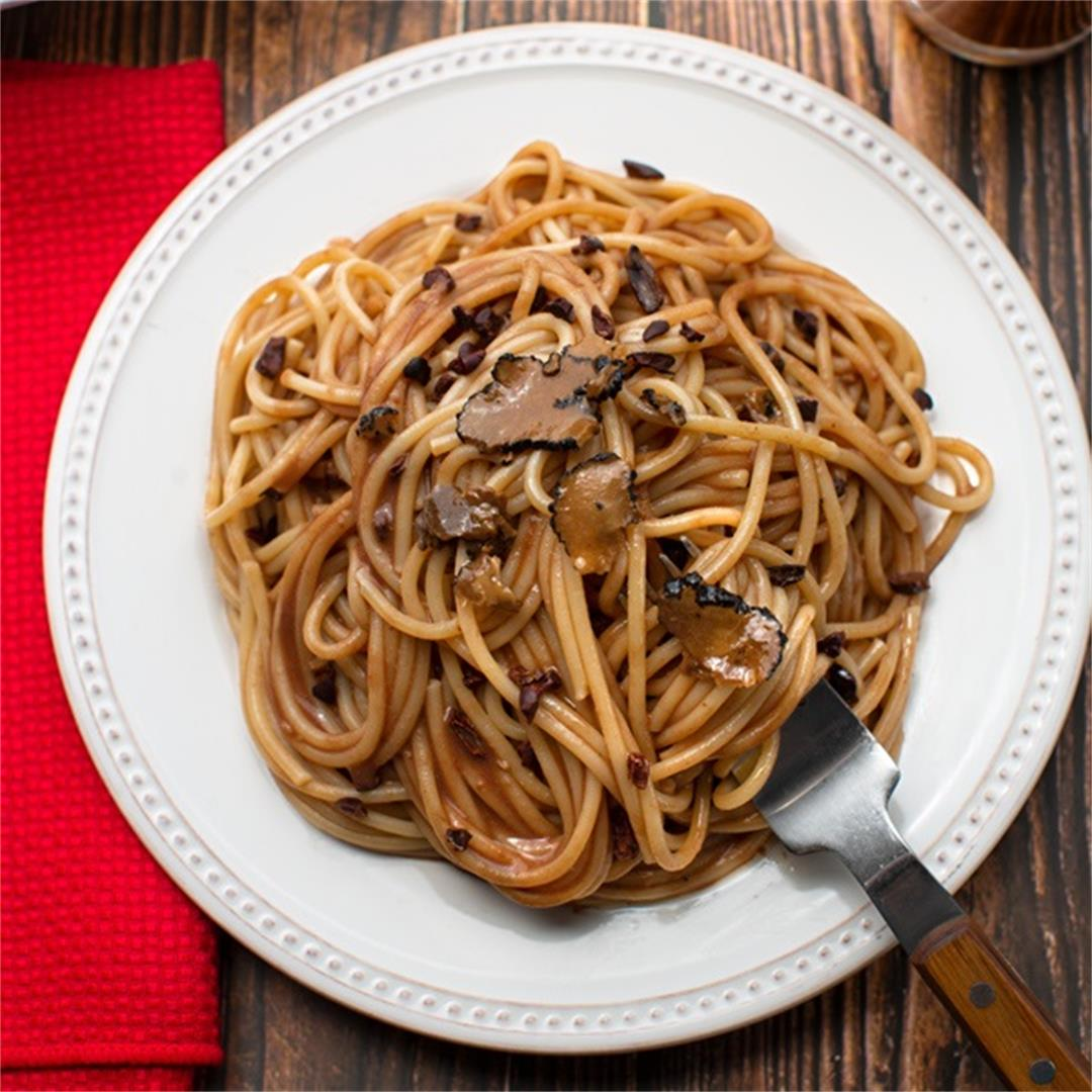 Chocolate Milk Spaghetti