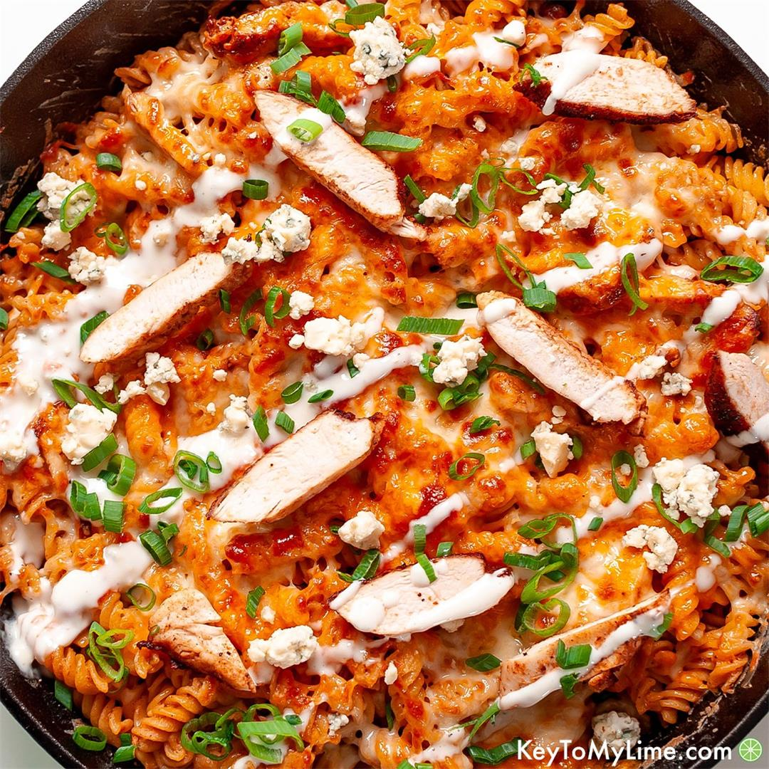 Quick and Easy Buffalo Chicken Pasta {VIDEO}
