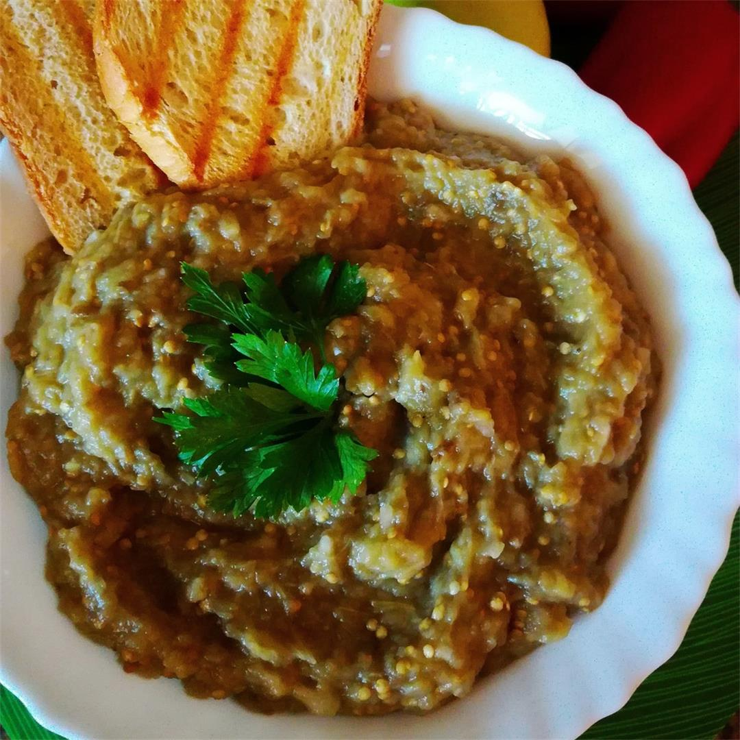 Smoky Romanian Eggplant Dip (Spread) Recipe