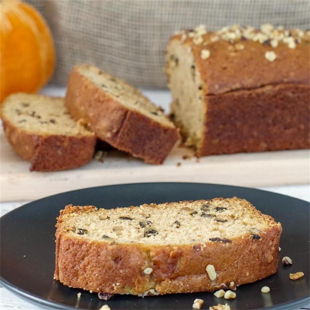 Dairy Free Pumpkin Bread
