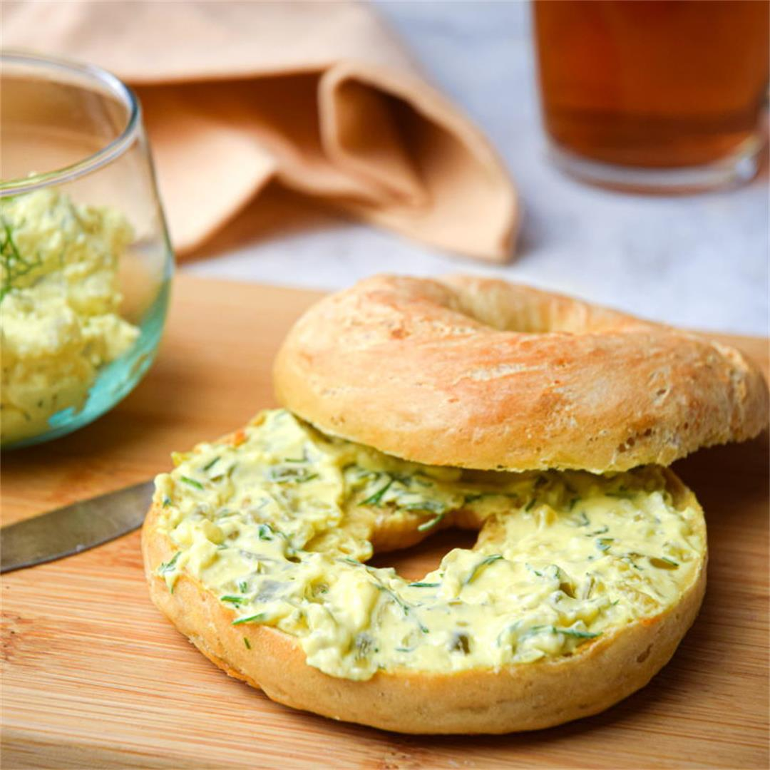 Dill Pickle Cream Cheese Bagel Spread