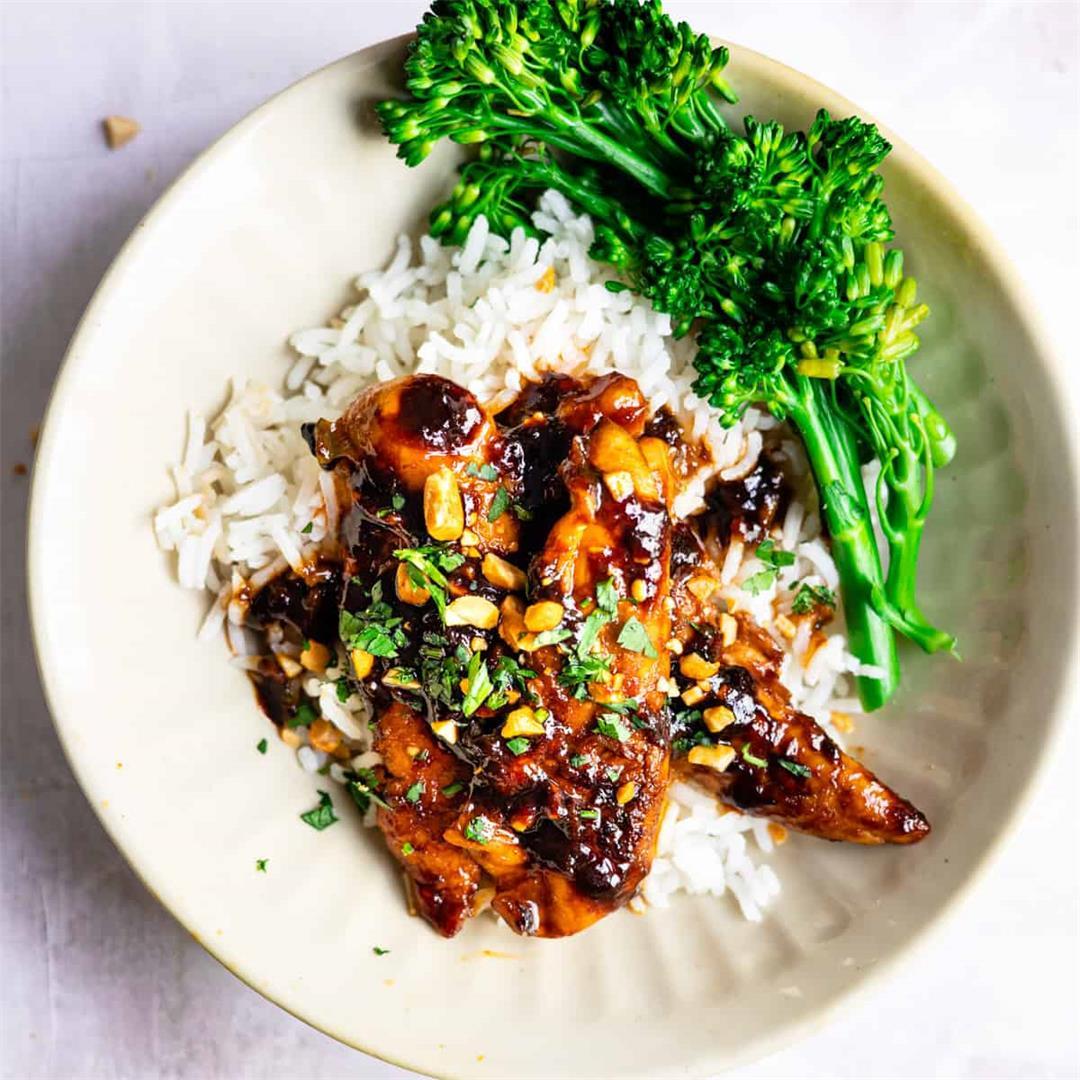 Easy 30 Minute Spicy Korean Chicken