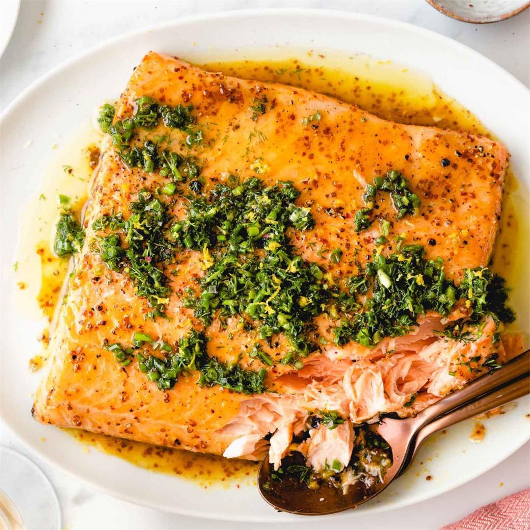 Honey Mustard-Glazed Salmon Fillet