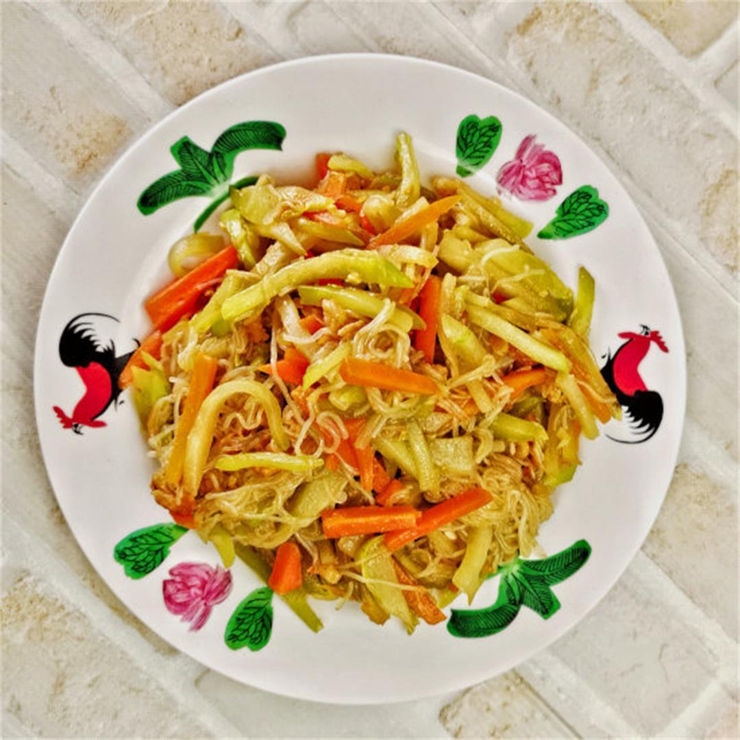 Chayote squash recipe- authentic stir-fry that rekindles the no