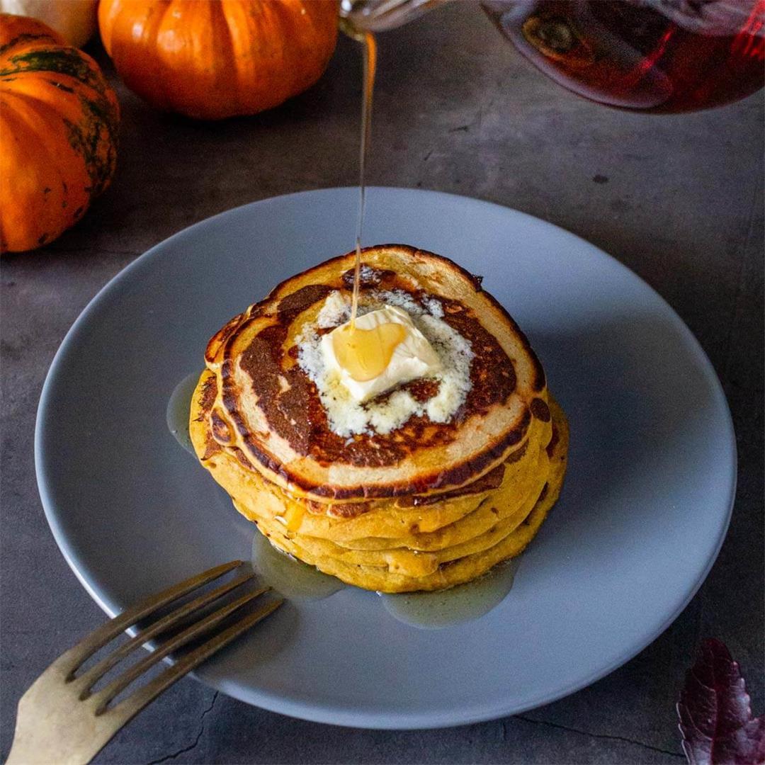 How to make Healthy Vegan Pumpkin Pancakes