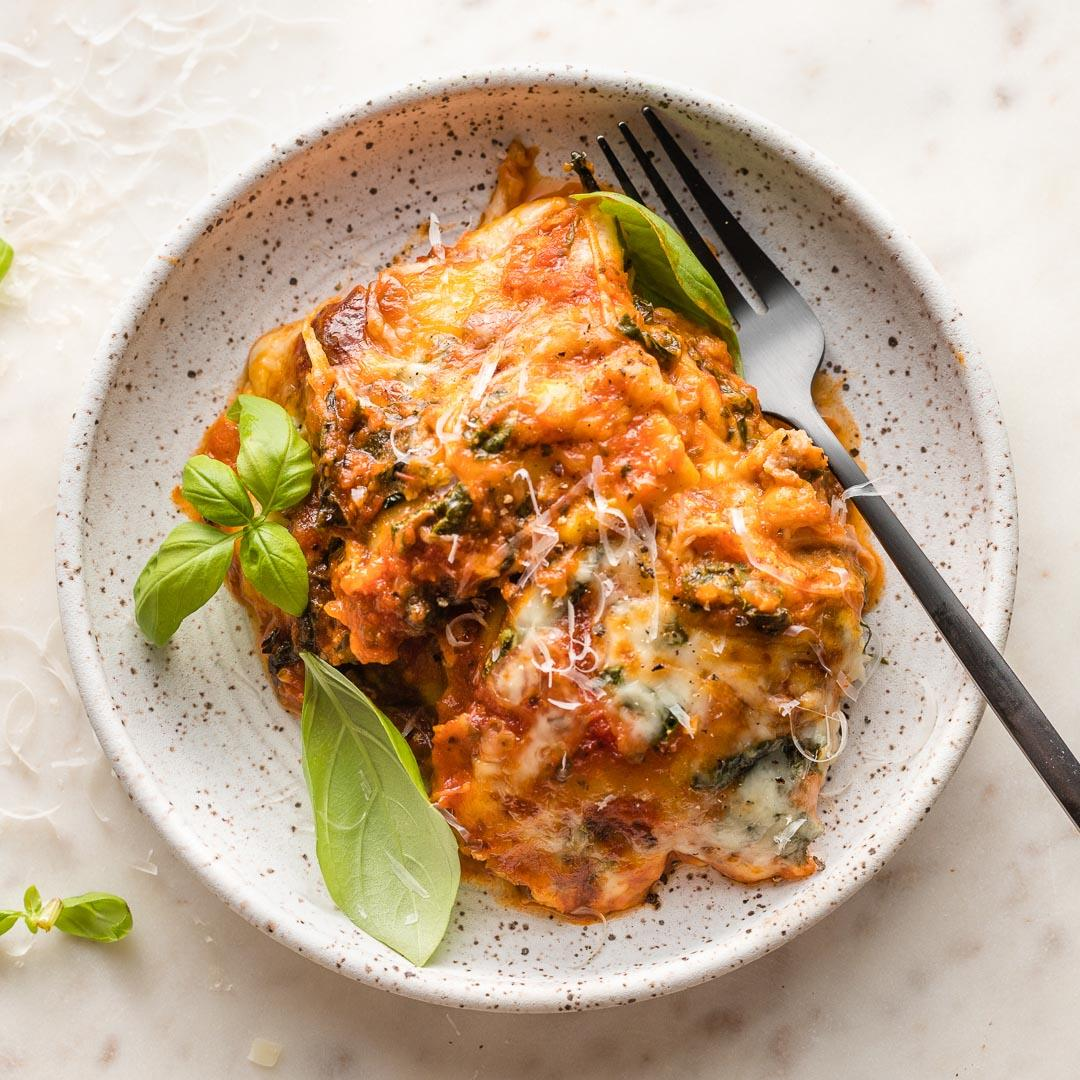 Baked Ravioli with Spinach