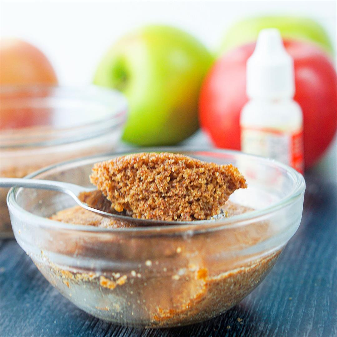 Healthy Apple Minute Muffin Recipe (Microwave)