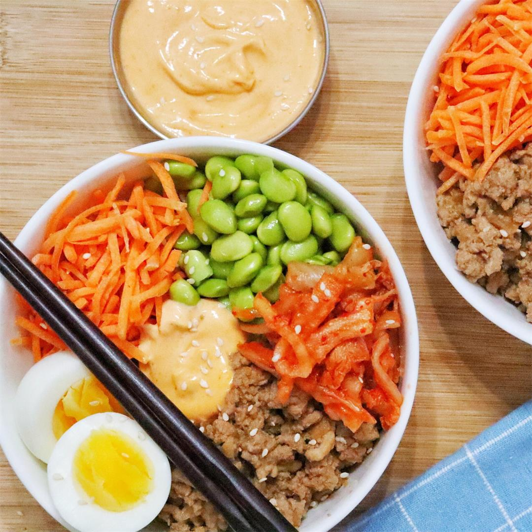 Korean-Inspired Egg Roll in a Bowl