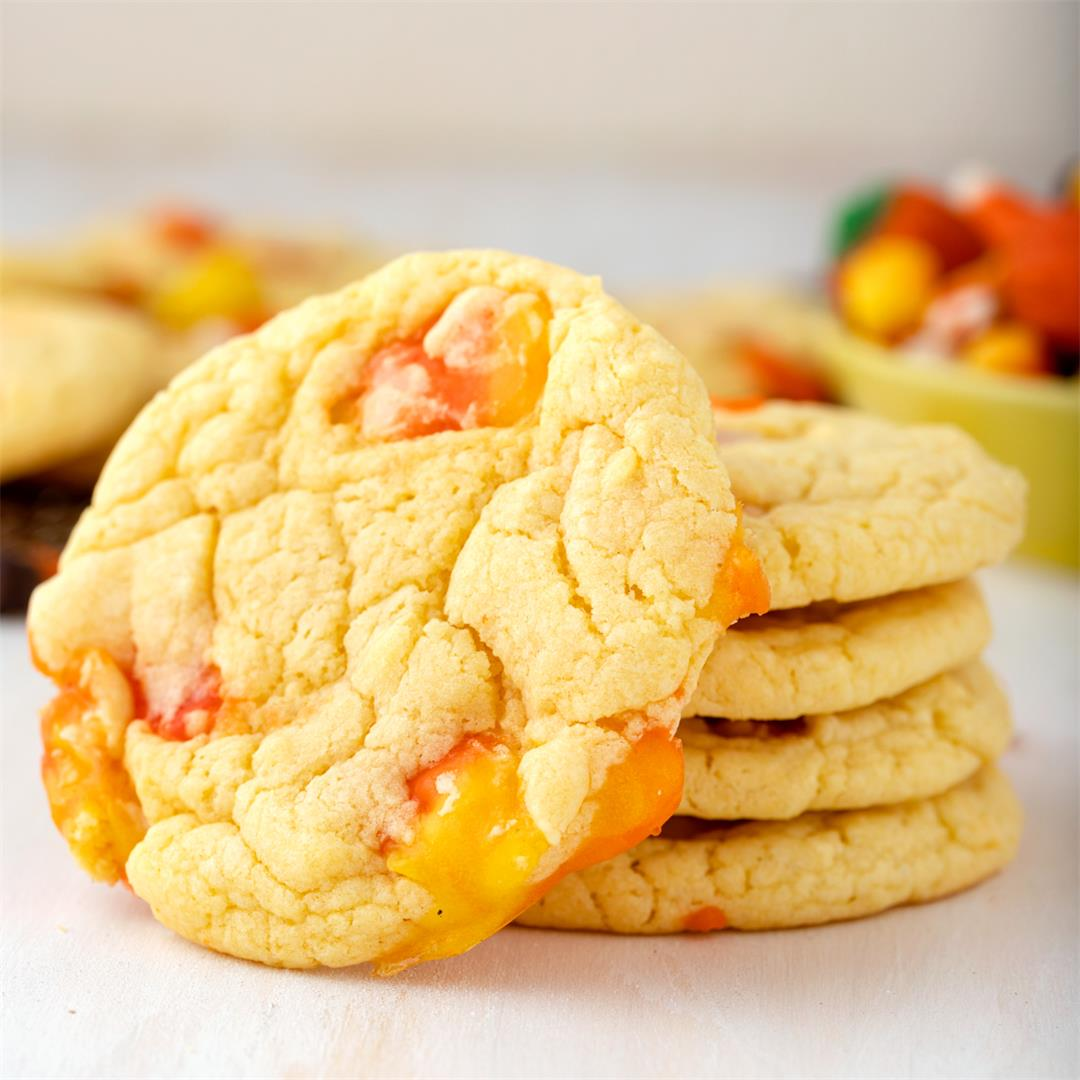 4-Ingredient Candy Corn Cookies
